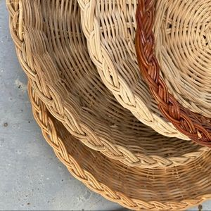 Lot of Woven Flat Baskets